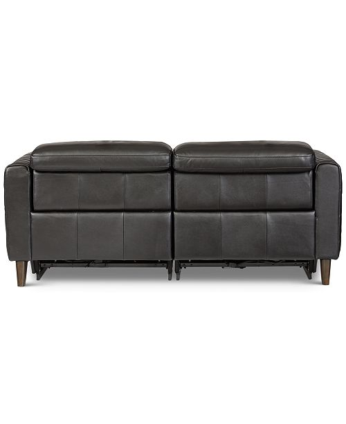 Jaconna 2 Pc. Leather Sofa with 2 Power Recliners, Created for Macy's