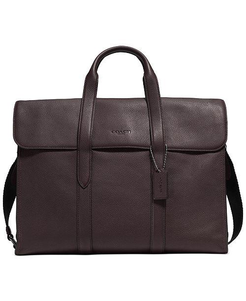 COACH Men's Metropolitan Pebble Leather Portfolio