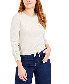 Bar III Tie-Front Sweatshirt, Created for Macy's