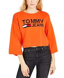 Logo Graphic Cropped Sweater