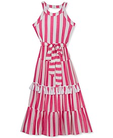 Big Girls Striped Tassel Dress