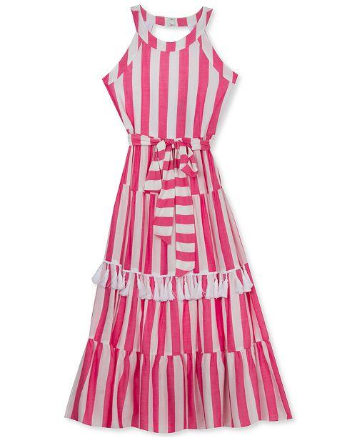 Rare Editions Big Girls Striped Tassel Dress