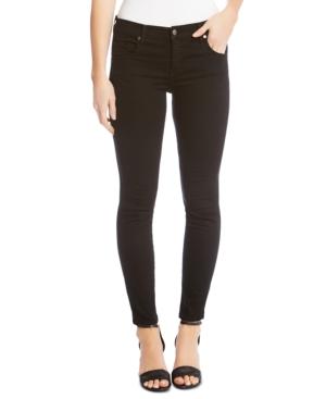 Karen Kane 'zuma' Stretch Crop Skinny Jeans In Black
