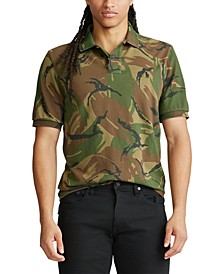Men's Custom Slim-Fit Camo Mesh Polo
