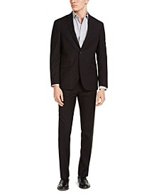 Men's Slim-Fit Techni-Cole Stretch Plaid Suit, Created for Macy's