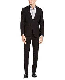 Men's Slim-Fit Techni-Cole Stretch Plaid Suit, Created for Macy's
