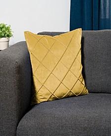 Velvet Waffle Pleat Decorative Throw Pillow