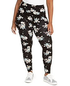 INC Plus Size Floral-Print Leggings, Created for Macy's