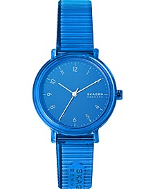 Women's Aaren Transparent Blue Polyurethane Strap Watch 36mm