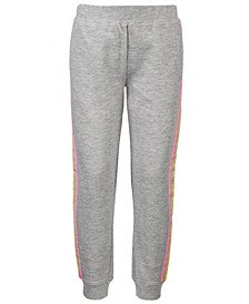 Little Girls Pastel-Stripe Jogger Pants, Created for Macy's