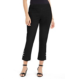 Petite Cropped Tummy-Control Pants, Created for Macy's