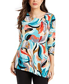 Petite Asymmetrical-Hem Tunic, Created For Macy's