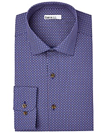 Men's Slim-Fit Performance Stretch Micro-Daisy Print Dress Shirt, Created for Macy's