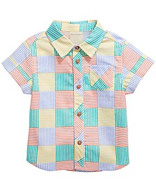 Baby Boys New Stripe Cotton Shirt, Created for Macy's