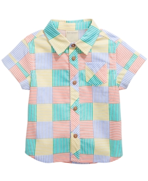 New Vintage Boys Clothing and Costumes First Impressions Baby Boys New Stripe Cotton Shirt Created For Macys $11.00 AT vintagedancer.com
