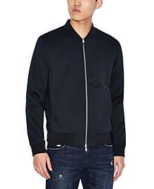 Men's Slim-Fit Jacquard Blouson Jacket