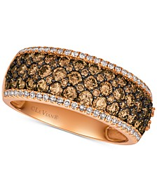 Chocolatier® Diamond Wide Band (1-1/2 ct. t.w.) in 14k Rose Gold