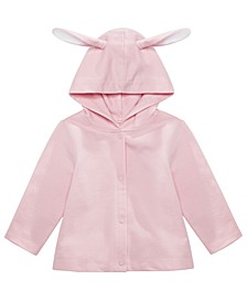 Baby Girls Bunny Hooded Cardigan, Created for Macy's