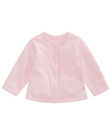 Baby Girls French Terry Heart-Pocket Cardigan, Created for Macy's