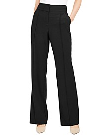 Petite Pintuck Tummy-Control Trousers, Created for Macy's