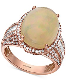 EFFY® Opal (5-3/8 ct. t.w.) & Diamond (3/4 ct. t.w.) Statement Ring in 14k Rose Gold