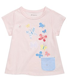 Baby Girls Butterfly-Print Cotton T-Shirt, Created for Macy's
