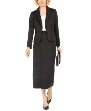 Notched-Lapel Column Skirt Suit