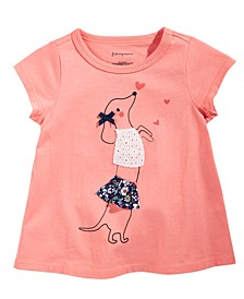 Baby Girls Chasing Dog Cotton T-Shirt, Created for Macy's