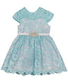 Baby Girls Lace Cap-Sleeve Dress