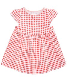 Baby Girls Gingham-Print Cotton Tunic, Created for Macy's