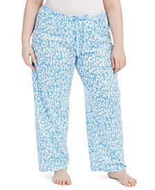 Plus Size Cotton Temp Tech Animal-Print Pajama Pants