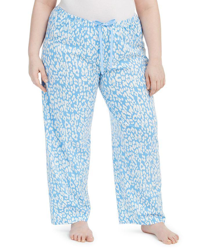 Hue - Plus Size Cotton Temp Tech Animal-Print Sleep Pants