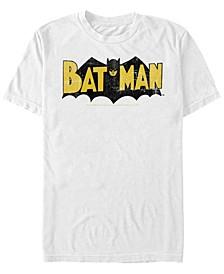 DC Men's Batman Retro Bat Logo Short Sleeve T-Shirt