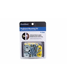 DuraHook Pegboard Mounting Spacer Kit for Duraboard or Pegboard, 15 Sets