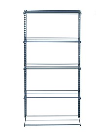 Storability 5 Tier Shoe and Boot Rack with Top Track and Hang Rail