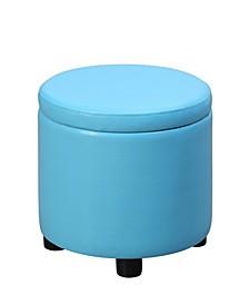 Designs4Comfort Round Accent Storage Ottoman
