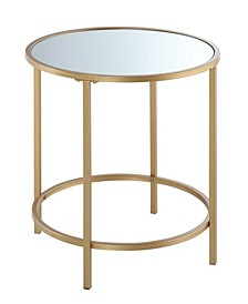Gold Coast Deluxe Mirrored Round End Table