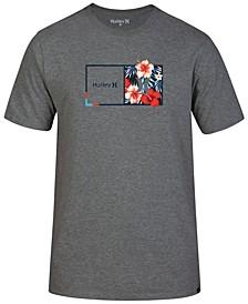 Men's Half & Half Floral Logo T-Shirt