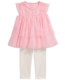 Baby Girls 2-Pc. Tulle Tunic & Leggings Set, Created For Macy's