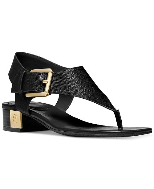 Michael Kors London Thong Block Heel Sandals
