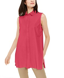 Sleeveless Knit Button-Front Tunic, Created For Macy's