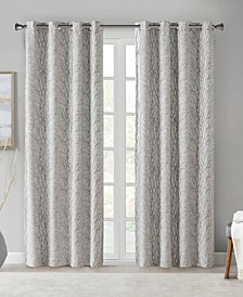 "Everly 50"" x 95"" Branch Jacquard Total Blackout Window Panel"