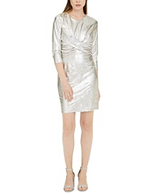 INC Metallic Twist-Front Dress, Created For Macy's