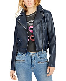 Norra Faux-Leather Moto Jacket