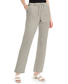 Petite Aliya Cotton Pull-On Relaxed-Fit Pants, Created for Macy's
