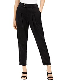 Pleated Cuffed-Hem Pants, Created for Macy's