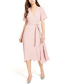 Alfani Handkerchief-Hem Wrap Dress, Created for Macy's
