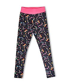 Big Girls Husky Pup Comfort Fit Athletic Leggings
