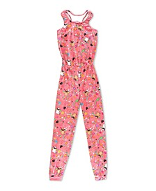 Big Girls Luxe Velvet Pugicorn Jumpsuit