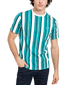 Men's All Over Vertical Stripe T-Shirt, Created for Macy's